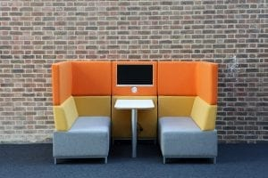 funky office Booth