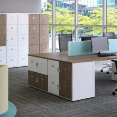 office storage and desks