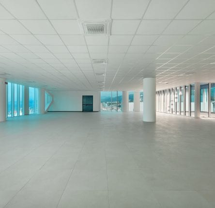 Interior, empty building