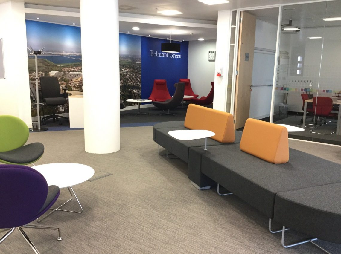 Belmont Green Express Themselves - Metric Office - Office Interiors