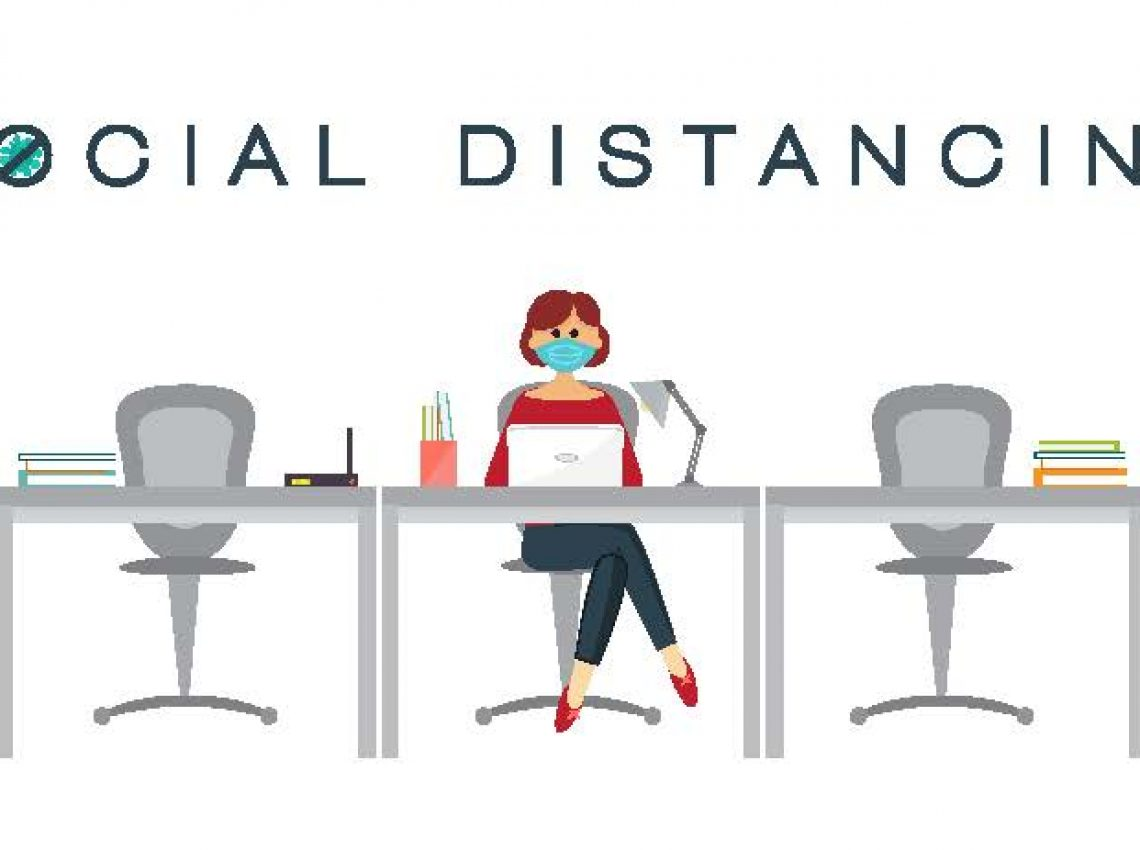 social distancing office